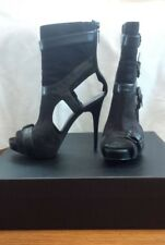 REPORT SIGNATURE Thompson Black Cutout Stiletto Booties - Size 8.5M