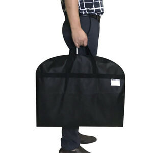 Travel Suit Carrier Dress Coat Garment Bag Dustproof Folding Protector Black