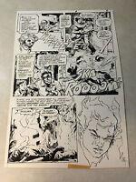 WEIRD WAR TALES #91 pg #5 original art MUTANT FIRE KID AVOIDS NUCLEAR FLAME 1980