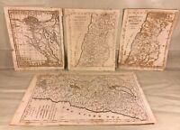 Antique Religious Maps of Holy Lands Francis Shallus Engraver