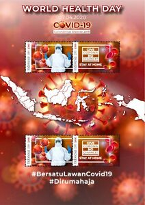 INDONESIA INDONESIË MS WORLD HEALTH DAY PANDEMIC GLOBAL 2020 VIRUS STAMPS MNH