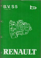 RTA B.V. S5  RENAULT  manuel de reparation BOITE DE VITESSE S5 - 18/3
