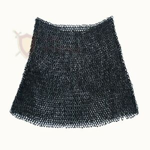 THE MEDIEVALS Chain Mail PLANE SKIRT 09 MM ID MS Flat Riveted Armor SCA LARP
