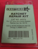 44782 Craftsman Ratchet repair Kit CAT NO