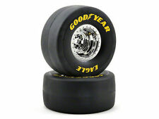 Traxxas Rear Slick Tires Chrome Wheels 2 NHRA TRA 6973
