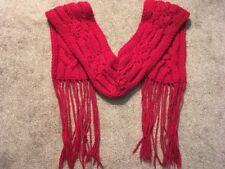 Banana Republic 6' X 7' Heavy Wool Red Scarf (over 1lb)