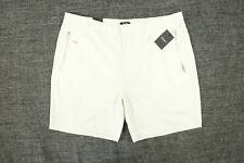 DKNY LIGHT SILVER BEIGE 2XL 38 40 STRETCH SIDE ZIP CHINO SHORTS MENS DEFECT