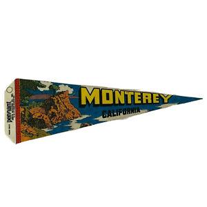"""Smith Western Co Monterey CA Souvenir Pennant Flag 25"""""""