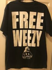 FREE WEEZY NEW T-SHIRT Mens L. Free Lil Wayne from Prison!  Nice! Look!