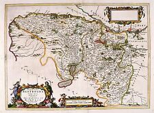 MAP ANTIQUE BLAEU SCOTLAND 1654 RENFREW OLD LARGE REPLICA POSTER PRINT PAM0621