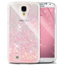 COVER Custodia Glitter Morbida Silicone STRASS per Samsung Galaxy S4 eS4 VE Rosa