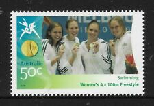 AUSTRALIA 2006 COMMONWEALTH GAMES SWIMMING Women's 4 x 100m Freestyle 1v MNH