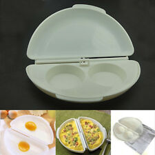 Microwave Omelet Mold Poached Cooking Cooker Pan Make Egg Portable Tool UK