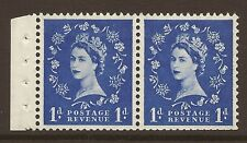 SB28 1d Wilding booklet pane perf type E(½v) UNMOUNTED MNT/MNH
