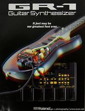 ROLAND GR-1 Guitar Synthesizer System Original 6-Page Full Color Brochure