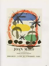 "1989 VINTAGE ""JOAN MIRO CONSTELLATIONS"" MOURLOT MINI POSTER COLOR Art Lithograph"