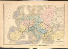 Europe barbaric invasion huns vandals ostrogoths visigoths suèves map card 1878