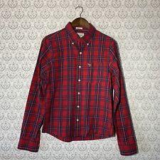 Abercrombie & Fitch Button Down Shirt MUSCLE Fit Men's Medium 100% Cotton