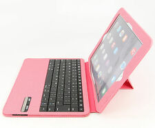 Ultra Slim iPad Air 2 Folio ABS Wireless Bluetooth Keyboard Case Station Pink
