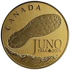 Kanada 100 Dollar 2019 - 75 Jahre D-Day - Landung in der Normandie 12 g Gold RP