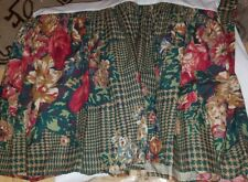 Euc Ralph Lauren Catherine Roses Houndstooth King Bed Skirt