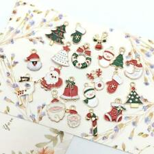 20x Alloy Enamel Mixed Christmas Charms Pendant Decor Craft DIY Jewelry