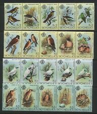 Seychelles From 1979 Birds Stamps Series 1 - 4 Unmounted Mint