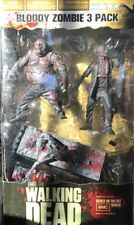 2012 McFarlane Walking Dead AMC TV Figure Set BLOODY ZOMBIE 3 PACK MIB