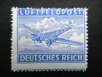 Germany Nazi 1942 1943 Stamp MNH ERROR Rouletted AIR POST Junkers 52 Transport M