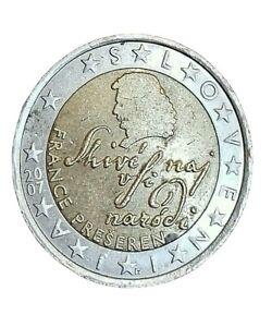 Moneta Slovenia 2 euro 2007 France Preseren Slovenija SHIVÉ NAJ VSI NARÓDI usata