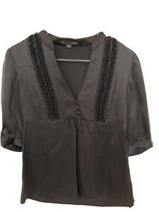 Saba Black Blouse Size 8