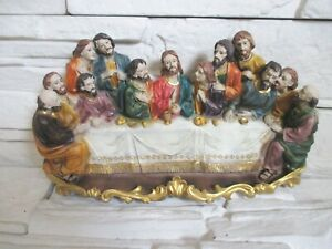 Jesus Das Abendmahl 27 cm Poly Statuette Darstellung Religion