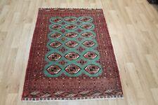 Antique Handmade Persian Tribal Rug Wool & Silk 145 x 105 Hand Knotted Wool Rug
