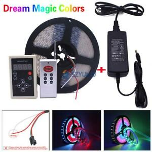 5M Chasing Dream Magic Color RGB 5050 WS2811 IC LED Strip Light & Remote & Power