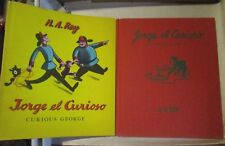 RARE 1st 1961 HC/DJ Spanish Curious George JORGE EL CURIOSO Red Cover Boards Rey
