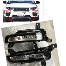 Pair Car Front Bumper Fog Lamp Light BULBS LH&RH For Land Rover Evoque 2016-2017