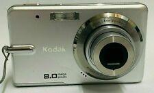 "Kodak EasyShare M883 Digital Camera Point & Shoot 8.0Mp 3.0"" 3x Oz 5x Dz Silver"