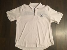 NFL TEAM APPAREL XL INDIANAPOLIS COLTS SHORT SLEEVE POLO SHIRT embroidered logo