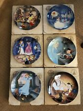 Set Of Six Knowles Disney Plates In Box With Coa's