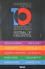 Original Vintage Poster PBS Masterpiece Theater 1980-81 Movie Film Anniversary