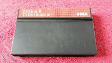 Master system Zillion 2 II Triformation -Sega Game Cart