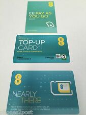 NEW PAY AS YOU GO EE NETWORK TRIPLE SIM CARD FOR IPHONE 5,6,6PLUS,7,S6,S7,M10