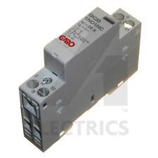 20A 2 Pole Contactor 230V AC 1 Normally Open N/O and 1 Closed N/C Modular Garo