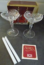 RCR AUREA 2 CANDLEHOLDERS WITH 2 CANDLES..NEW BOXED