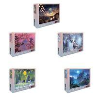 Puzzles 1000 PièCes en Bois Assemblage Image Paysage Puzzles Jouets pour Ad X7O6