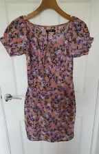 Nasty Gal Pink Floral Bodycon Dress Size 10