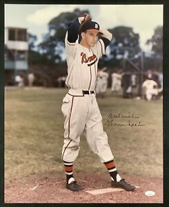Warren Spahn Signed Photo 16x20 Baseball Autograph Atlanta Braves Cy WSC HOF JSA