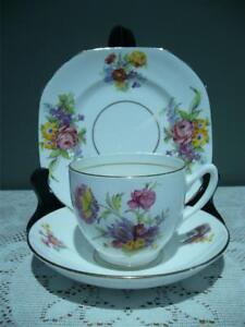 Duchess Bone China Trio - Cup Saucer Plate - High Tea - 1950's - Vintage - Gc
