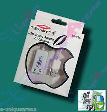 TERABYTE™ USB to SOUND 7.1 Channel 3D Hi Speed External Audio Sound Card Adaptor