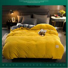 Soft Warm Coral Velvet Quilt Bed Cover Flannel Thickening Duvet Bedding Cover